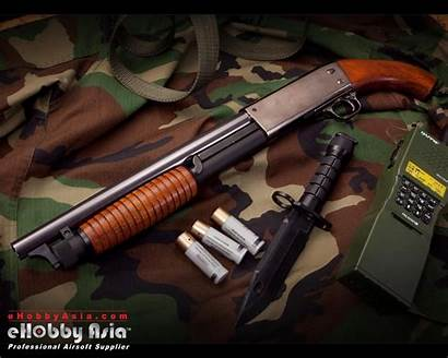 Ithaca Shotgun Police M37 Riot Wallpapers Weapons