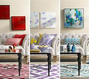 A Colorful Living Room Decorating Idea: One Room, Three ...