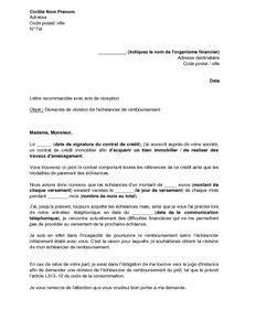 modele lettre suspension de credit immobilier modele lettre demande