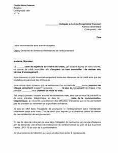 Remboursement Assurance Emprunteur Lettre Type : lettre de demande de r vision de l 39 ch ancier de ~ Gottalentnigeria.com Avis de Voitures