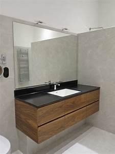 Meuble Salle De Bain Noyer : sdb noyer corian raboniak mobilier design ~ Melissatoandfro.com Idées de Décoration