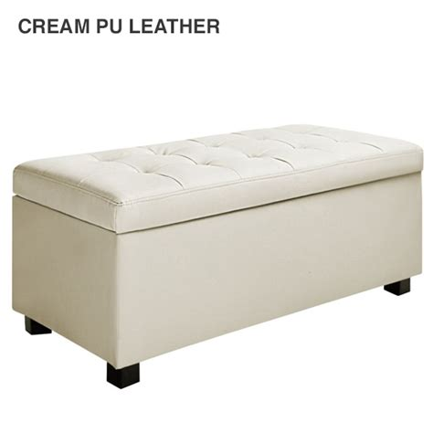 fabric storage ottoman bench fabric pu leather storage ottoman 9 colours 101 5cm buy