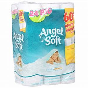 Angel soft bathroom tissue 2 ply 24 count gep77239pk for Softest bathroom tissue