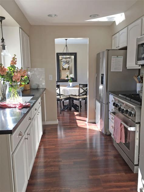 Discover inspiration for your small kitchen remodel or upgrade with ideas for storage, organization, layout and decor. small galley kitchen tour #smallkitchenremodelonabudget ...