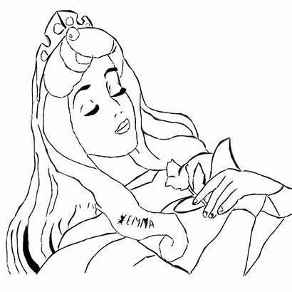 Sleeping Coloring Beauty Pages Drawings Sleep Printable