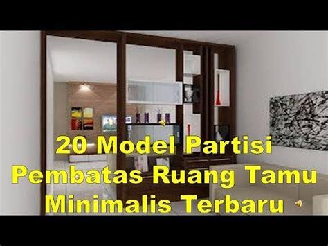model partisi pembatas ruang tamu minimalis terbaru