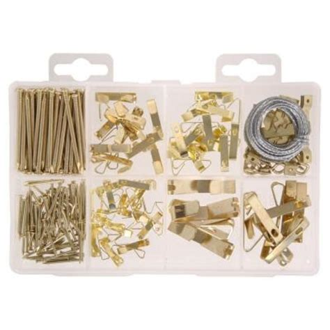 Swag L Kit Home Depot by The Hillman 200 Pieces Picture Hanging Kit 130251