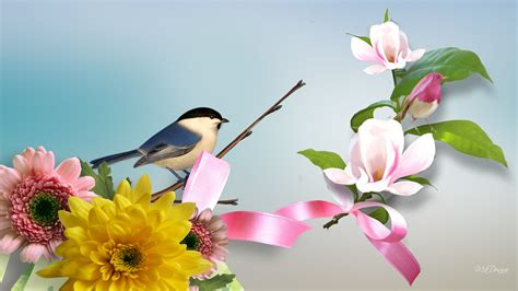 Animated Bird Wallpaper - free bird and flower wallpaper wallpapersafari