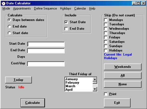 date calculator calculate number days