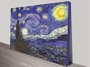 Van Gogh The Starry Night Canvas Print Australia Wall Art ...