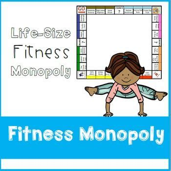 fitness monopoly  images fun fitness games