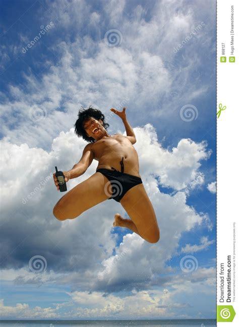 sky jump  cellphone royalty  stock photography