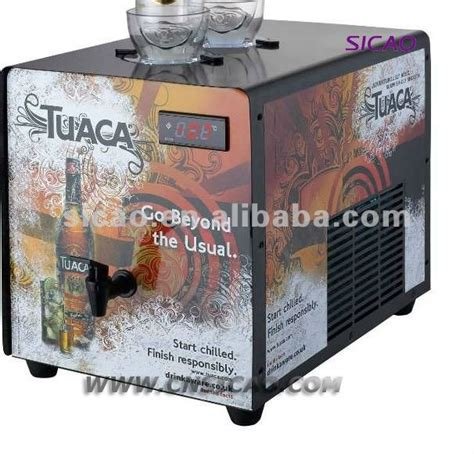 electric compressor tabletop wine ice cold shot machine 2 bottles with tap liquor drink chiller