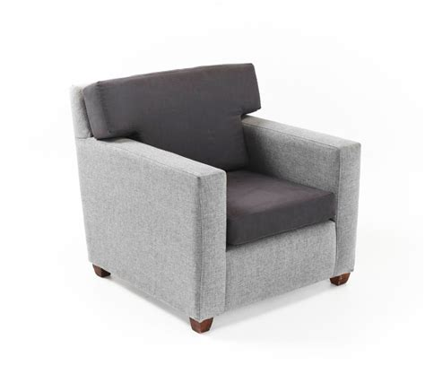 light grey club chair with interchangeable cushion prop