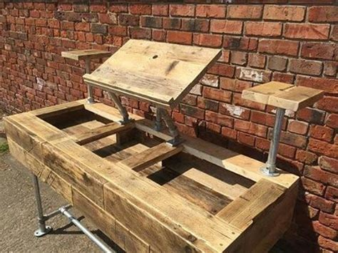 wooden dj table maybe the best industrial style reclaimed wood dj deck