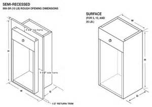 recessed fire extinguisher cabinets dimensions ftempo