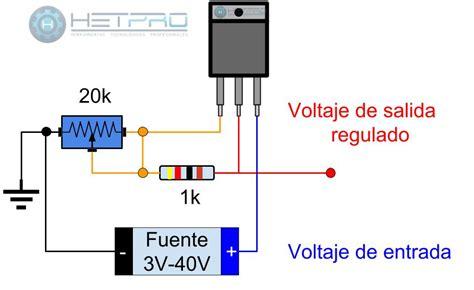 lm317 circuito para regulador de voltaje variable hetpro tutorial