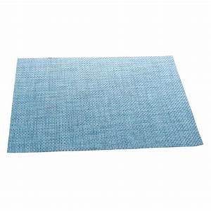 Set De Table Bleu : set de table texaline rectangulaire bleu ~ Teatrodelosmanantiales.com Idées de Décoration