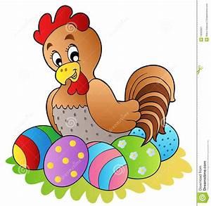 Oeuf De Paque : poule de dessin anim avec des oeufs de p ques ~ Melissatoandfro.com Idées de Décoration