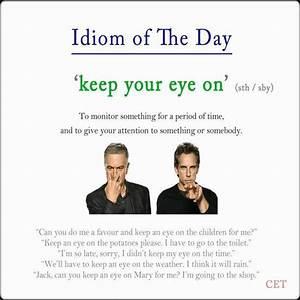 keep eyes on #idiom #voc #ELT