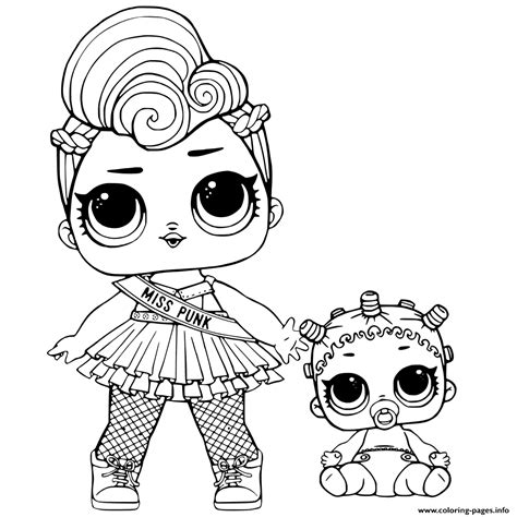 lol surprise  lil sisters coloring pages printable