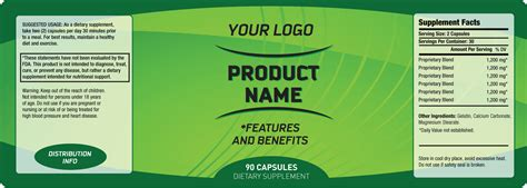 private label supplement labeling services custom white