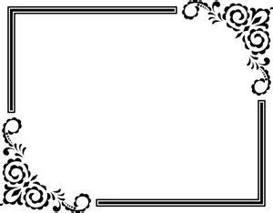bingkai hias clipart gratis domain publik vektor