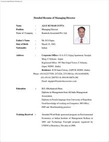 How To Make A Detailed Resume by Detailed Resume Template Free Sles Exles Format Resume Curruculum Vitae Free