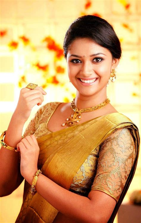 actress keerthy suresh  saree