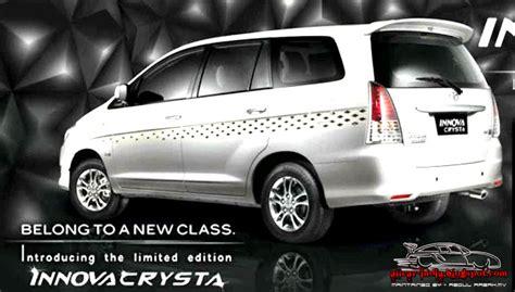 automotive craze toyota innova crysta limited edition