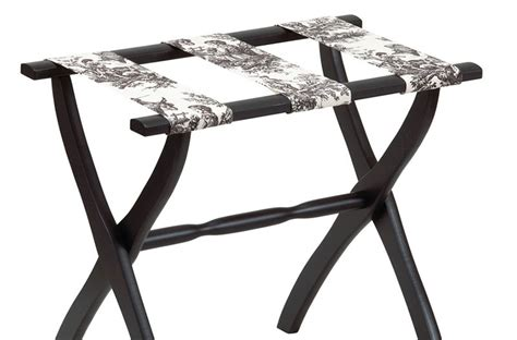 Luggage Rack with Toile Fabric Straps