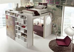 modern elevated bed ideas With space saver furniture for modern and contemporary house