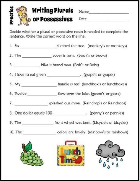 teaching plural and possessive nouns school