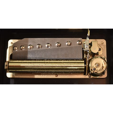 13 inch/33 cm cylinder, double spring motor, tune indicator and optional zither attachment. Italian Contemporary Cylinder Music Box with Japanese Sankyo 72 Note Movement Playing Chopin ...
