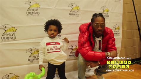 Future And Baby Future At The Free Wishes Foundation