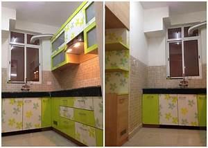 Live Working Indian Modular Kitchen Design Detail, Simple
