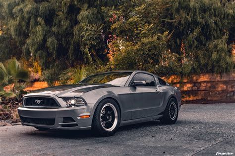 Gray Ford Mustang 5th Gen S197