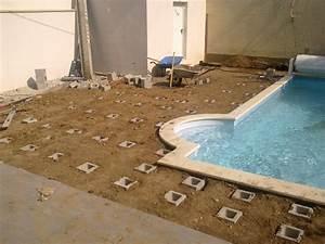 projet de pose d39une terrasse en composite avec With beautiful amenagement jardin autour piscine 2 creation