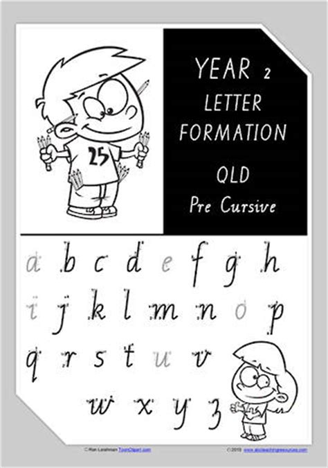 year 2 handwriting a z letter formation qld precursive
