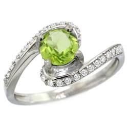peridot wedding rings peridot engagement rings
