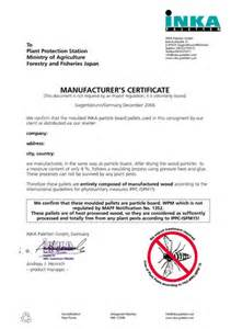 certificate of manufacture template certificate of manufacture template 28 images certificate of compliance template regulatory