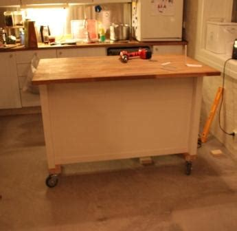 kitchen island  wheels add casters  stenstorp ikea