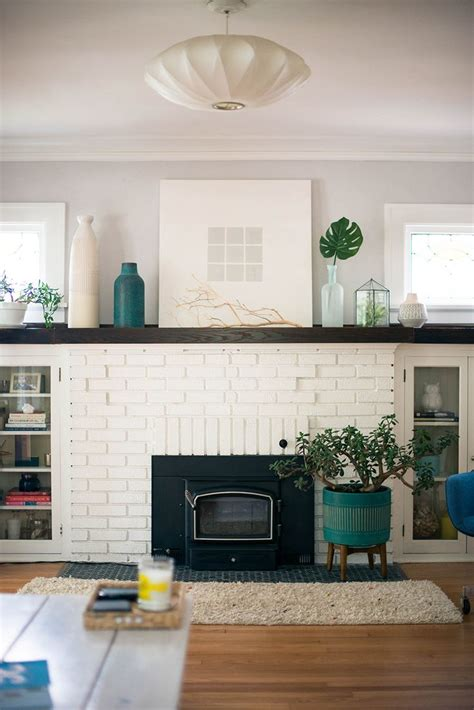 25 painted brick fireplaces in the living room