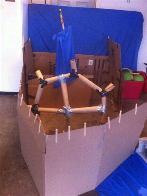Cardboard Boat For Play by Cardboard Boat For To Play In 3rd Bday
