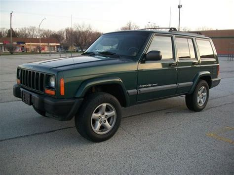 jeep cherokee green 2000 purchase used 2000 jeep cherokee sport 6 cylinder 4 0l