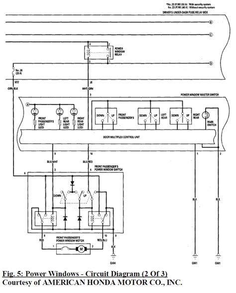 2001 honda civic power window relay wiring diagram
