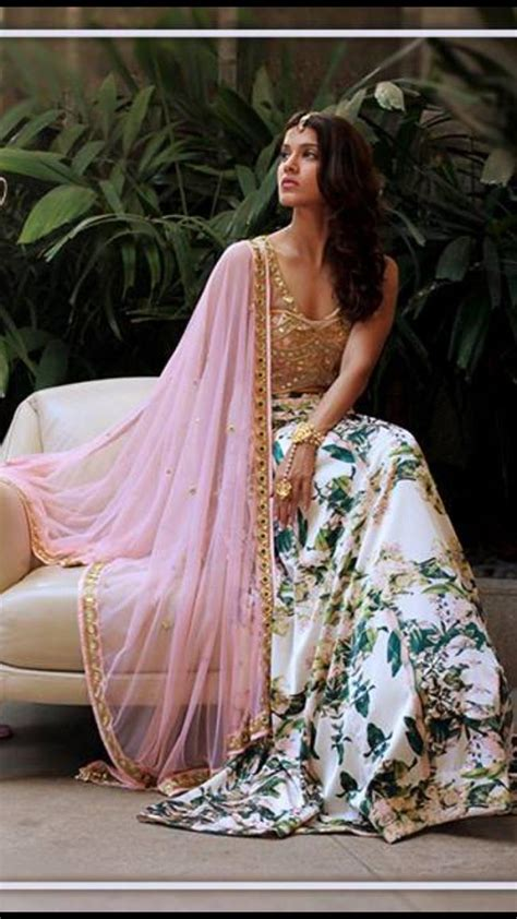 indian fashion trend floral lehngas