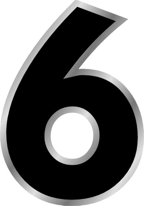 black and white south six black and white number 6 clipart clipart suggest