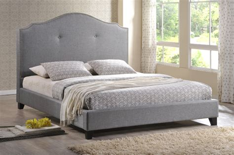 King Platform Bed With Fabric Headboard by Upholstered Platform Beds