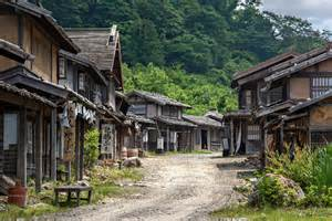 Traditional Japanese Village Ghost Town
